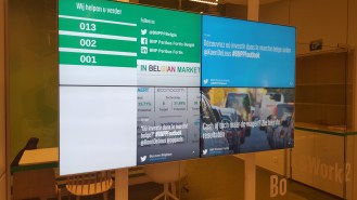 BNP-Paribas-Social-Media-Wall