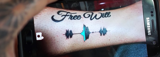 Soundwave-tattoo op arm (2)