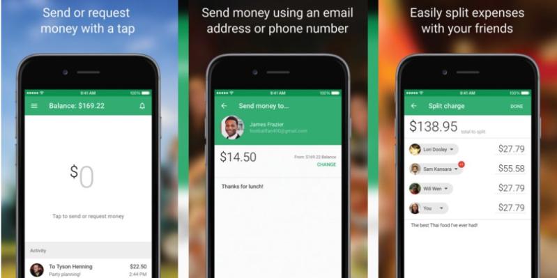 Google Wallet voor iOS screenshots