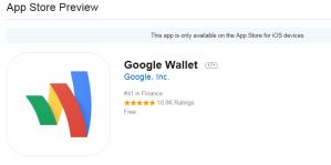 Google Wallet voor iOS