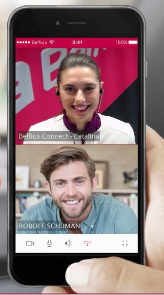 Belfius chat smartphone