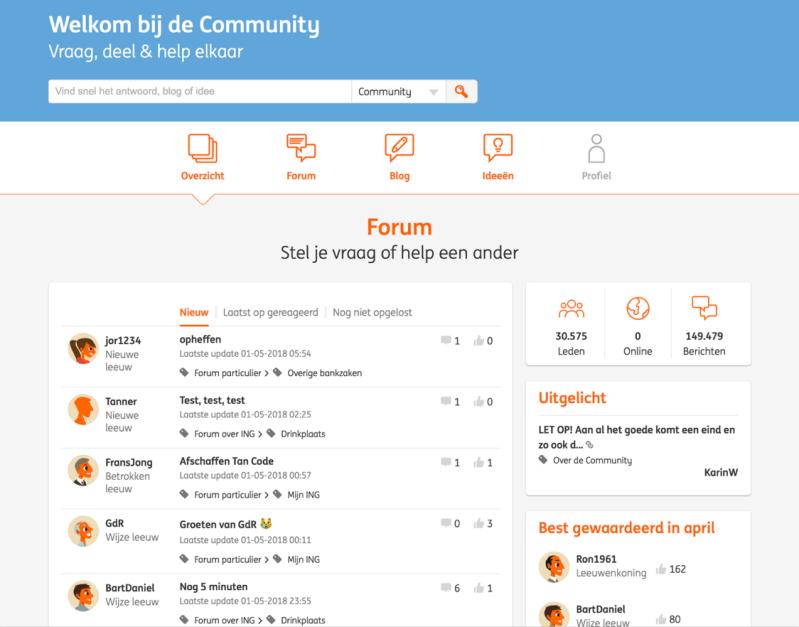 ING forum voorbeeld