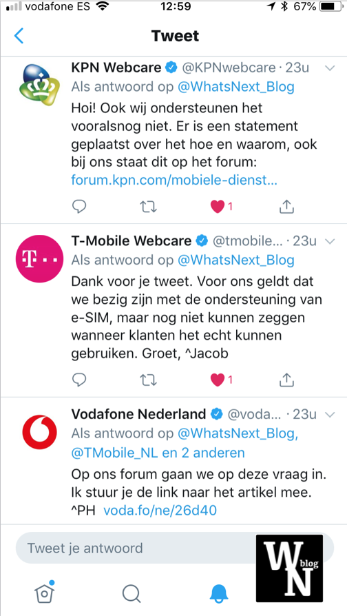 Nederlandse providers eSim