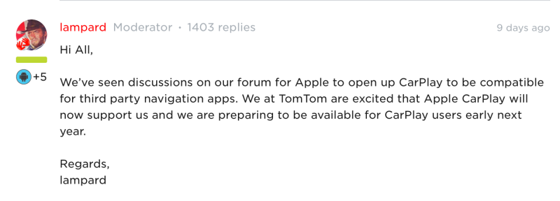 TomTom forum UK