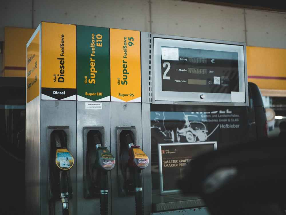 photo of gasoline dispenser in station