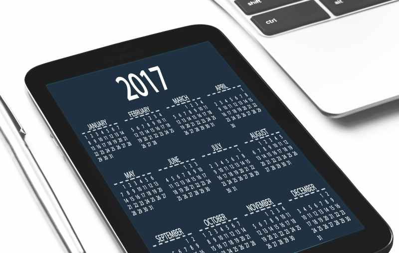 calendar date device digital